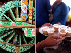 Rath Yatra and Indian style milk tea in India