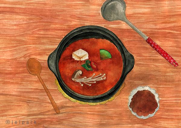 Korean Comfort Soup Illustration