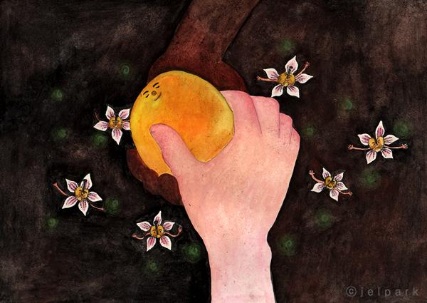 Mango I had in India Illustration